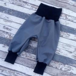 Yháček podzimní softshellové kalhoty ŠEDÁ / ČERNÁ, vel. 68, 80, 92