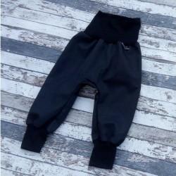 Yháček zimní softshellové kalhoty ČERNÁ / ČERNÁ, vel. 92 a 104