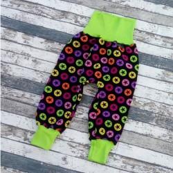 Yháček zimní softshellové kalhoty BAREVNÉ HVĚZDY, vel. 104