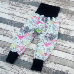 Yháček zimní softshellové kalhoty DRÁČCI na sv.zelené, vel. 80 a 86