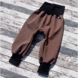 Yháček zimní softshellové kalhoty ŽÍHANÉ - HNĚDÁ, vel. 98