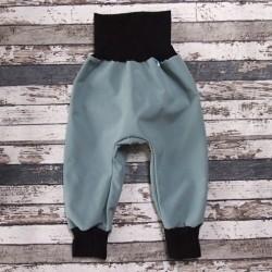 Yháček zimní softshellové kalhoty OLIVA / ČERNÁ, vel. 92