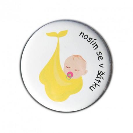 Babyplacky žlutá NOSÍM SE