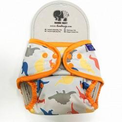 Bambi Roxy V2 svrchní PUL kalhotky DINO NA ŠEDÉ pat
