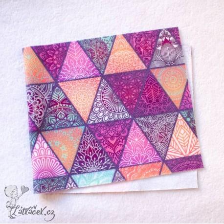 Separační pleny FLEECE trojúhelníčky fialové (29x13 cm)