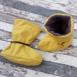 Yháček softshellové botičky fleece HOŘČICOVÉ, vel. S a M