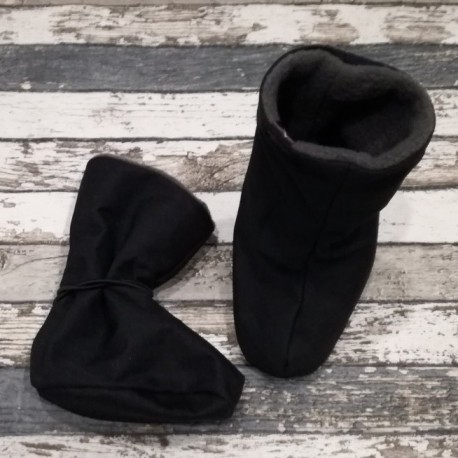 Yháček softshellové botičky fleece ČERNÉ, vel. M
