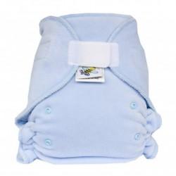 MajaB kalhotková plenka VELUR světle modrá