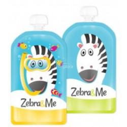 Zebra&me kapsičky na přesnídávku POTÁPĚČ, 2 ks