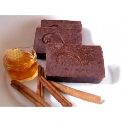 Š.IVA hedvábné mýdlo s medem a mandlovým olejem