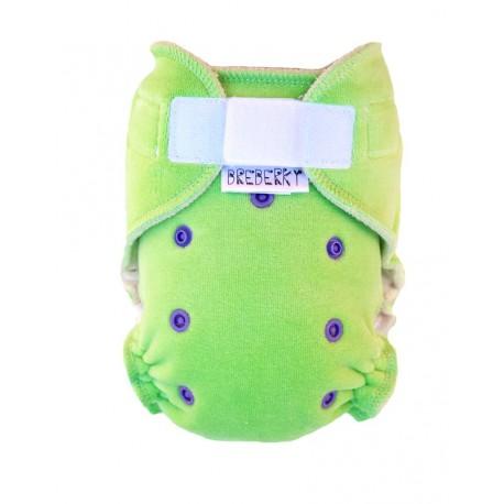 Breberky kalhotková plenka VELUR zelená