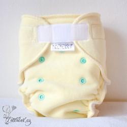 Breberky kalhotková plenka VELUR žlutá