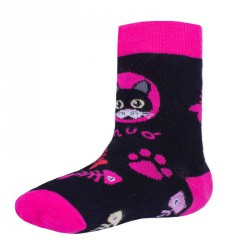 Unuo bambusové ponožky KOČKA RŮŽOVÁ