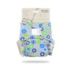 Petit Lulu kalhotková plenka HVĚZDY modro-zelené