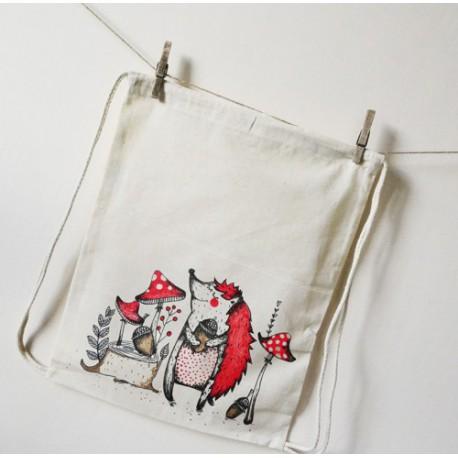 Allon plátěný batoh NA HŘÍBKÁCH
