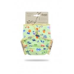 Petit Lulu novorozenecká plenka AUTÍČKA zelená