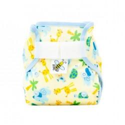 MajaB novorozenecké PUL kalhotky ŽIRAFKY modrý lem