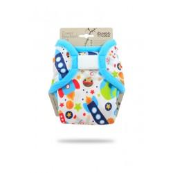Petit Lulu novorozenecké svrchní kalhotky KOSMONAUTI