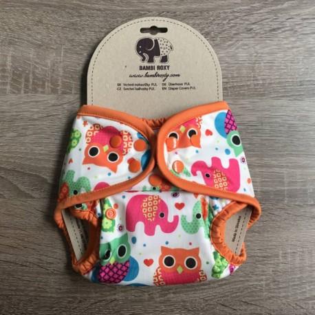 Bambi Roxy V2 svrchní PUL kalhotky SLONÍCI A SOVIČKY pat