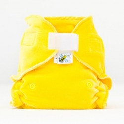 MajaB kalhotková plenka VELUR žlutá