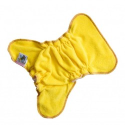 MajaB novorozenecká plenka na sponku ŽLUTÁ