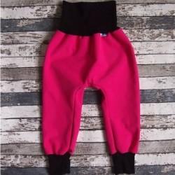 Yháček jarní softshellové kalhoty RŮŽOVÁ / ČERNÁ, vel. 86, 92, 98, 104