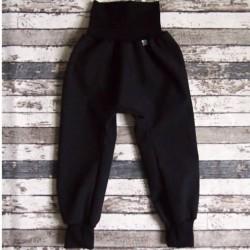 Yháček jarní softshellové kalhoty ČERNÁ / ČERNÁ, vel. 98