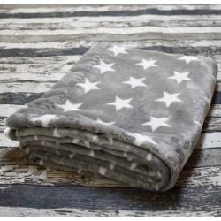 Yháček velká deka HVĚZDIČKY na šedé