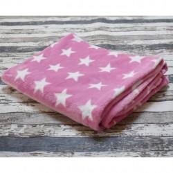 Yháček velká deka HVĚZDIČKY na růžové