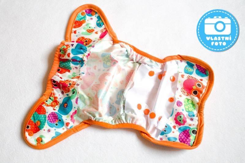 Jednovelikostní svrchní PUL kalhotky Bambi Roxy - rozložené